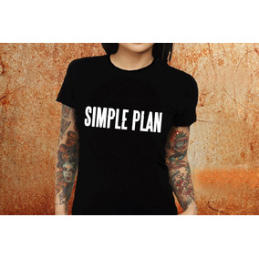 Blusa Feminina Simple Plan Banda Tshirt Camisa D76 d6a281f2875