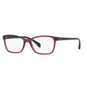 ad01ec6cfd201 Armação Oculos Grau Ray Ban Rb7108 5445 55 Roxo Translucido