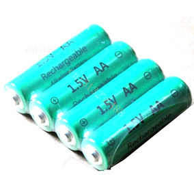 Pilha Recarregável 1,5v 3000mah Alcalina 4 Unidades Aa