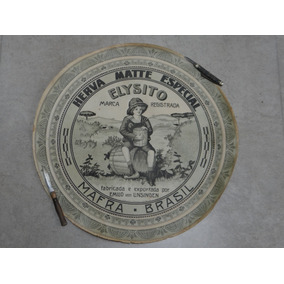 Rótulo Antigo Erva Mate Elysito Com 22cm Diâmetro