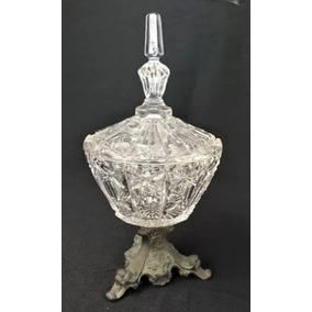 Antiga Bomboniere Compoteira Cristal Baccarat Munddibr