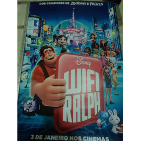 Poster:cartaz:wifi Ralph:disney:original:cinema:93cm X 64cm