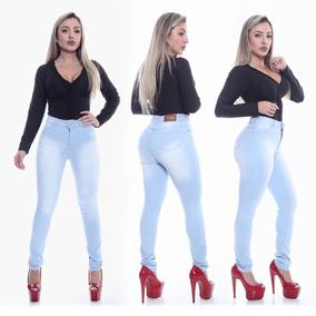 Calça Jeans Hot Pants Cintura Alta Com Lycra Levanta Bumbum 324bb53ddf