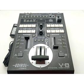 Vídeo Mixer 8 Entradas Switcher Corte Roland V-8 Edirol