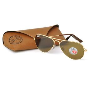 Óculos Sol Ray-ban Rb3025 Aviador Dourado Polarizado 58 62 G 4a90ced2fc