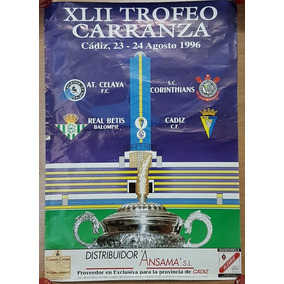 Cartaz Oficial Futebol Ramon De Carranza 1996 Corinthians