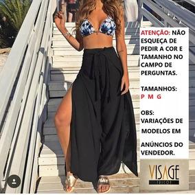Calça Envelope Pantalona Feminina Transpassada ,moda, Roupas