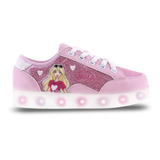 Zapatillas Barbie Con Multi Luces Footy 820 821 Mundo Manias
