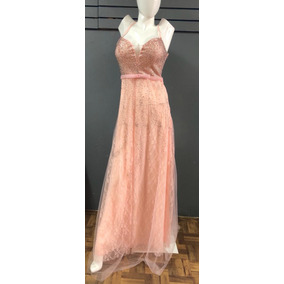 1902-06 Vestido Largo Color Rosa