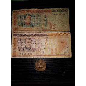 Billetes Antiguos 5000 Mil Pesos Moneda 20 Centavos