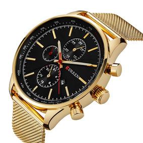 Relógio Dourado Brilhoso Feminino - Relógios De Pulso no Mercado ... 53fcae64fb