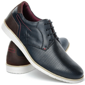 Sapato Sapatênis Casual Oxford Masculino Em Couro