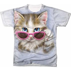 3558a6f6b4f7c Camiseta Gato De Oculos Masculina - Calçados, Roupas e Bolsas no ...