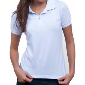 b34327926d Polo Feminina Branca Lisa Sem Bordado Enfermagem E Uniforme