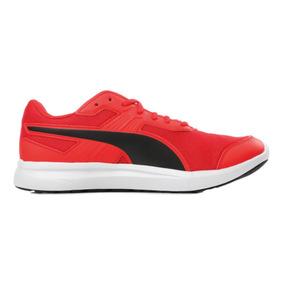 Tenis Puma Escaper Mesh Rojo Negro Hombre Nuevos 364307 06