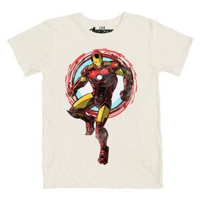 Playera Mascara De Latex The Golden Avenger Iron Man
