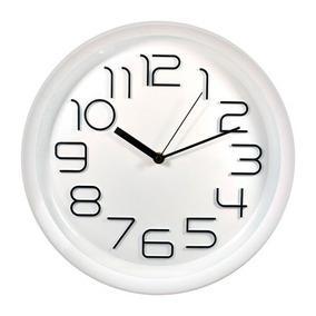2b0d6e1ca4f Relógio Redondo De Parede 30x30 Cm Preto E Branco - Relógios no ...