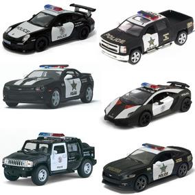 Kit 6 Miniatura Carro Coleção Policia A Fricção Ferro