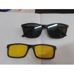 9eb739860993d Armacao Com Adicional Escuro E Amarelo Noturno - Óculos no Mercado ...