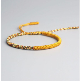 Pulsera Budista Tibetana - Yellow Half Colors 1 Piece