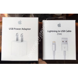 Cargador iPhone Xs/5 /6s-7-8plus + Cable Usb Apple Lightning