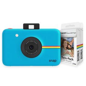 Camara Polaroid Snap Blue + 2 Set De Papeles (40 Fotos)