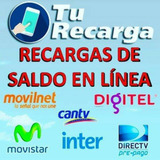 Recarga Saldo Movilnet Digitel Movistar Intercable Directv