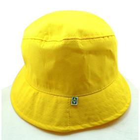5915342ac0859 15 Chapeu Bucket Hat Balde Liso Amarelo