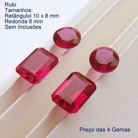 87519e735a1 Rubi Pedra Preciosa Preço 2 Retân 10x8 E 2 Redonda 8 Mm 3171