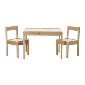 Ikea Mesa Y 2sillas Mesita De Juegos Infantil Madera Solida