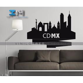 Vinilo Decorativo Cdmx Skyline Ciudad De México Sticker