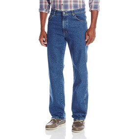 Pantalon Jeans Mezclilla Wrangler Corte Recto Azul 32 X 32