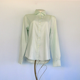 769de02c8cad6 Camisa Social Verde Feminina Acinturada Colombo Tamanho P