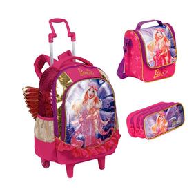 Kit Mochila Mochilete G 2 Em 1 Barbie Dreamtopia - Sestini