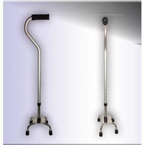 Bastón Ortopédico 4 Apoyos Aluminio Muy Ligero Y Cómodo