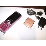 Celular Rosa Samsung Sgh-j700i Desbloqueado Perfeito Estad