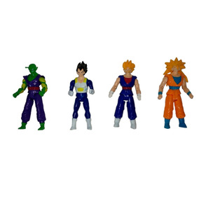 Bonecos Articulados Dragon Ball Z Kit Com 4 Unidades