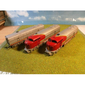 Locomotora, Dummy Y Vagon Central Santa Fe Rivarossi Esc H0