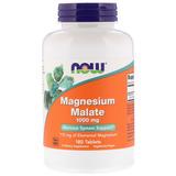 Magnesio Dimalato Malato Now 180 Tabletes Importado Cod. 094