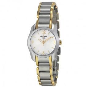72c6c591d1a Relógio Tissot Feminino T-wave Madre Pérola Cinza dourado. R  1.699