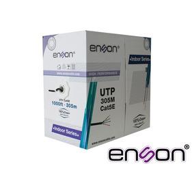 Cable Utp Cat5e Enson 13251b305 Negro Pro-ii 305mts 100% Cob
