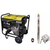 Bomba Poço Artesiano Com Gerador Diesel Partida Elétrica 3cv