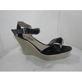 Sandalia Con Taco Chino Forrado En Yute Zapatos Y Sandalias ... 4b4febb83ef