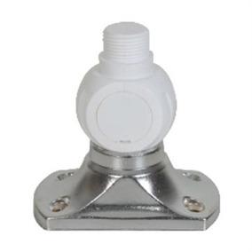 Base Inox Suporte Pvc Para Antena Marítima Vhf Ssb Uhf
