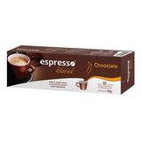 Caixa 10 Cápsulas Café Sabor Chocolate Compativeis Nespresso