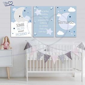 8a8aef33e6 Placas Decorativas Infantil Céu Nuvem Lua Brilha Estrelinha