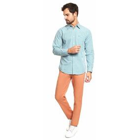 Dockers- Pantalón Washed Khaki Naranja Hombre