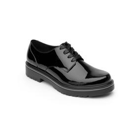 Zapato Flexi Dama 32901 Negro Vino Casual Oficina