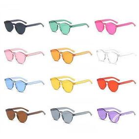 a749e2f1319b5 Óculos De Sol Lente Colorida Transparente