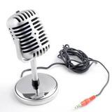 Microfono De Escritorio Retro Para Pc